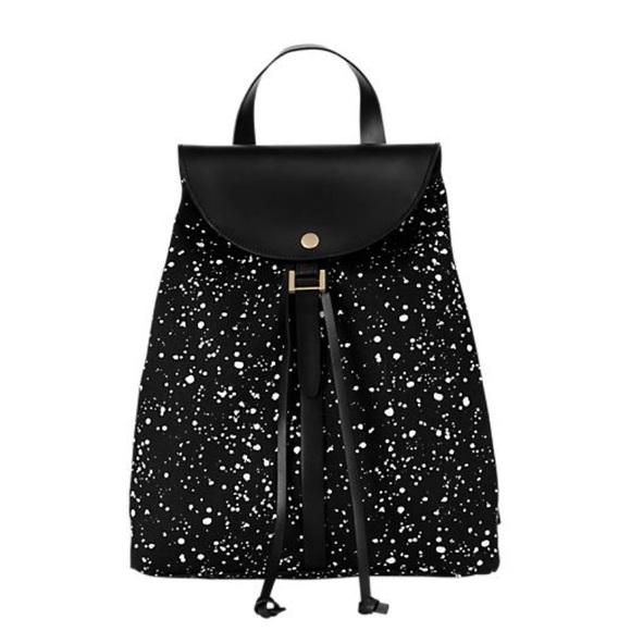 Kate Spade Half Circle Backpack Purse Galaxy Print, Kate Spade Black White Purse
